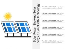 Solar Power Showing Solar Energy And Panel With Technology