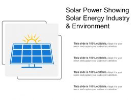 Solar Power Showing Solar Energy Industry And Environment