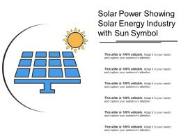 Solar Power Showing Solar Energy Industry With Sun Symbol