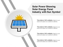 Solar Power Showing Solar Energy Panel Industry With Sun Symbol