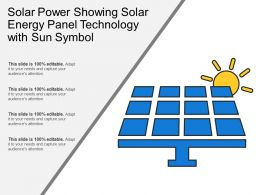 Solar Power Showing Solar Energy Panel Technology With Sun Symbol