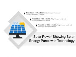Solar Power Showing Solar Energy Panel With Technology