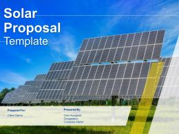 Solar Proposal Template Powerpoint Presentation Slides