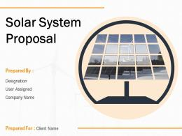 Solar System Proposal Powerpoint Presentation Slides