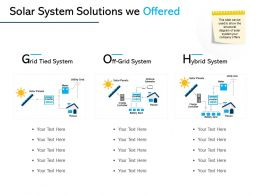 Solar System Solutions We Offered Ppt Powerpoint Outline