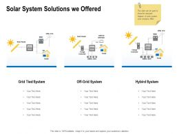 Solar System Solutions We Offered Ppt Powerpoint Presentation Sample