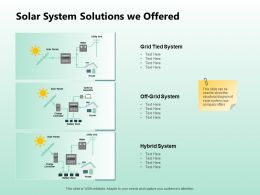 Solar System Solutions We Offered Ppt Powerpoint Presentation Show