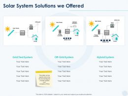 Solar System Solutions We Offered Ppt Powerpoint Presentation Slides Professional