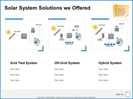 Solar System Solutions We Offered System Ppt Powerpoint Slides