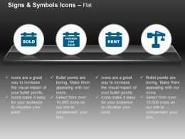 Sold House Rent Services Real Estate Ppt Icons Graphics