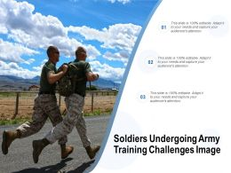Soldiers Undergoing Army Training Challenges Image