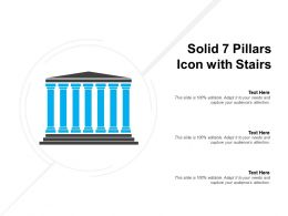 Solid 7 Pillars Icon With Stairs
