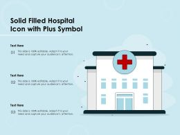 Solid Filled Hospital Icon With Plus Symbol