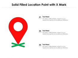 Solid Filled Location Point With X Mark