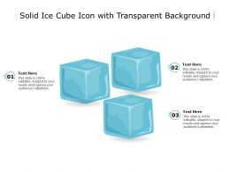 Solid Ice Cube Icon With Transparent Background