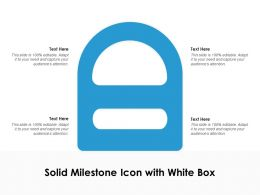 Solid Milestone Icon With White Box