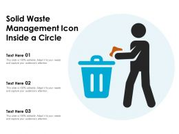 Solid Waste Management Icon Inside A Circle