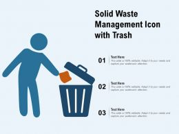 Solid Waste Management Icon With Trash
