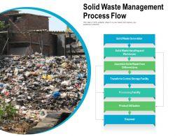 Solid Waste Management Process Flow