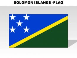 Solomon Islands Country Powerpoint Flags