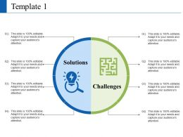 Solution And Challenges Ppt Visual Aids Summary