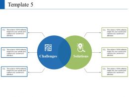 Solution And Challenges With Two Venn Ppt Visual Aids Summary