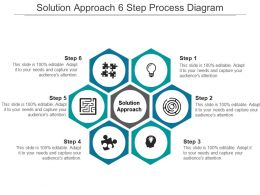Solution Approach 6 Step Process Diagram Ppt Infographics
