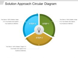 Solution Approach Circular Diagram Ppt Sample Download