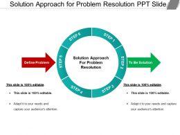 Solution Approach For Problem Resolution Ppt Slide
