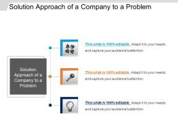 Solution Approach Of A Company To A Problem Ppt Slide Templates