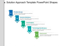 Solution Approach Template Powerpoint Shapes