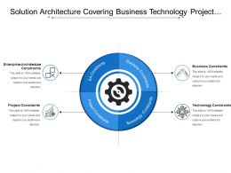 Solution Architecture Covering Business Technology Project Constraints