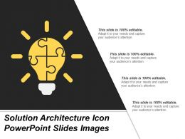 Solution Architecture Icon Powerpoint Slides Images
