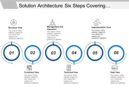 Solution Architecture Six Steps Covering Management And Implementation