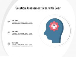 Solution Assessment Icon With Gear