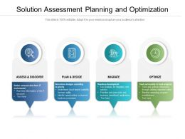 Solution Assessment Planning And Optimization