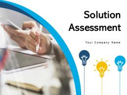 Solution Assessment Technology Innovative Organizational Requirement Evaluate Performance Business