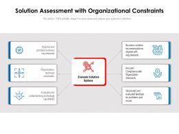 Solution Assessment With Organizational Constraints