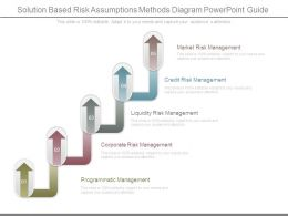 Solution Based Risk Assumptions Methods Diagram Powerpoint Guide