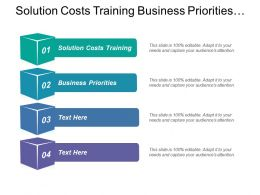 Solution Costs Training Business Priorities Improvement Opportunities Organizational Capability