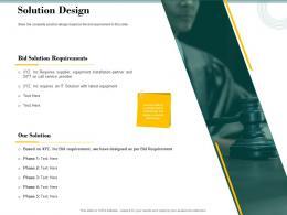 Solution Design Bid Evaluation Management Ppt Powerpoint Presentation Gallery Show