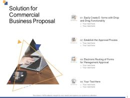 Solution For Commercial Business Proposal Ppt Powerpoint Presentation Visual Aids Styles