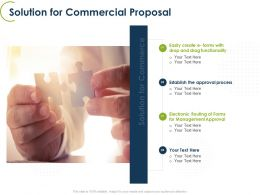 Solution For Commercial Proposal Ppt Powerpoint Presentation Layouts