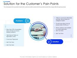 Solution For The Customers Pain Points Equity Secondaries Pitch Deck Ppt Template