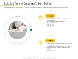 Solution For The Customers Pain Points Financial Market Pitch Deck Ppt Themes