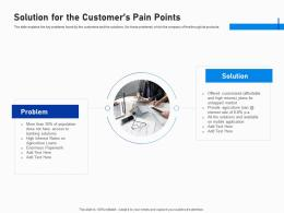 Solution For The Customers Pain Points Investment Fundraising Post IPO Market Ppt Pictures Files