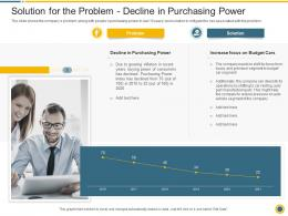 Solution For The Problem Decline Downturn In An Automobile Company Ppt Styles