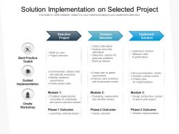 Solution Implementation On Selected Project