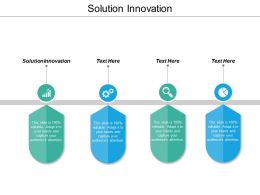 Solution Innovation Ppt Powerpoint Presentation Icon Smartart Cpb