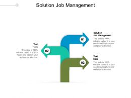 Solution Job Management Ppt Powerpoint Presentation Gallery Infographic Template Cpb